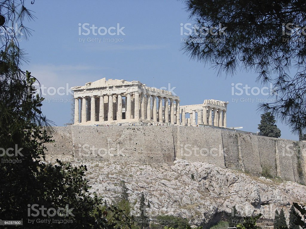 The Parthenon royalty-free stock photo