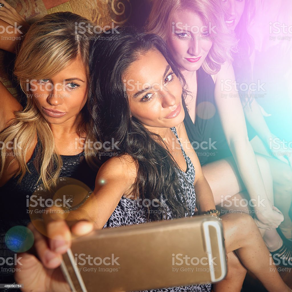 The party don't start 'til we walk in stock photo