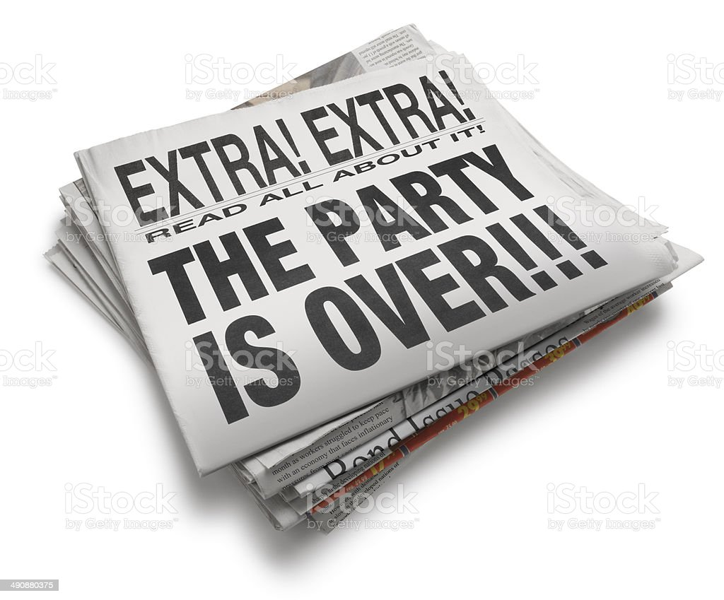 The Party is Over!!! stock photo