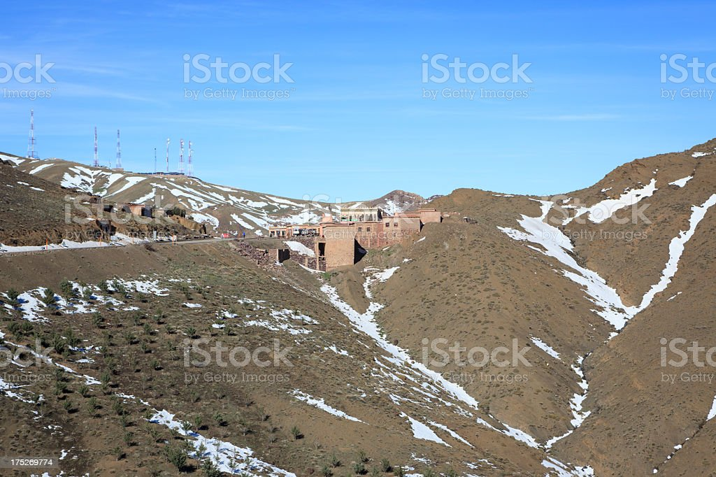 The pass Tizi-n-Tichka in Morocco royalty-free stock photo