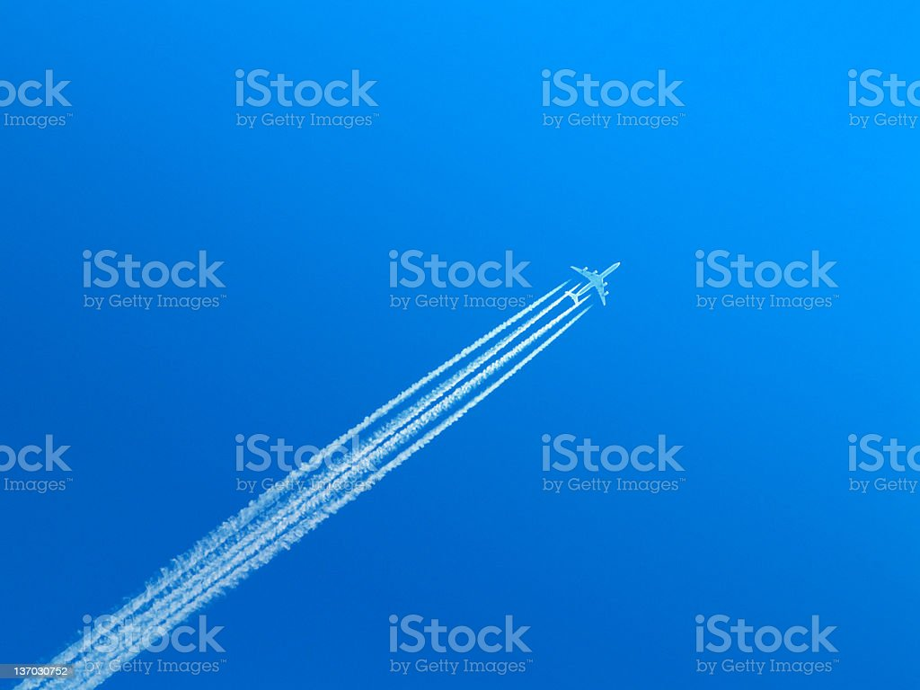 The passenger plane. royalty-free stock photo