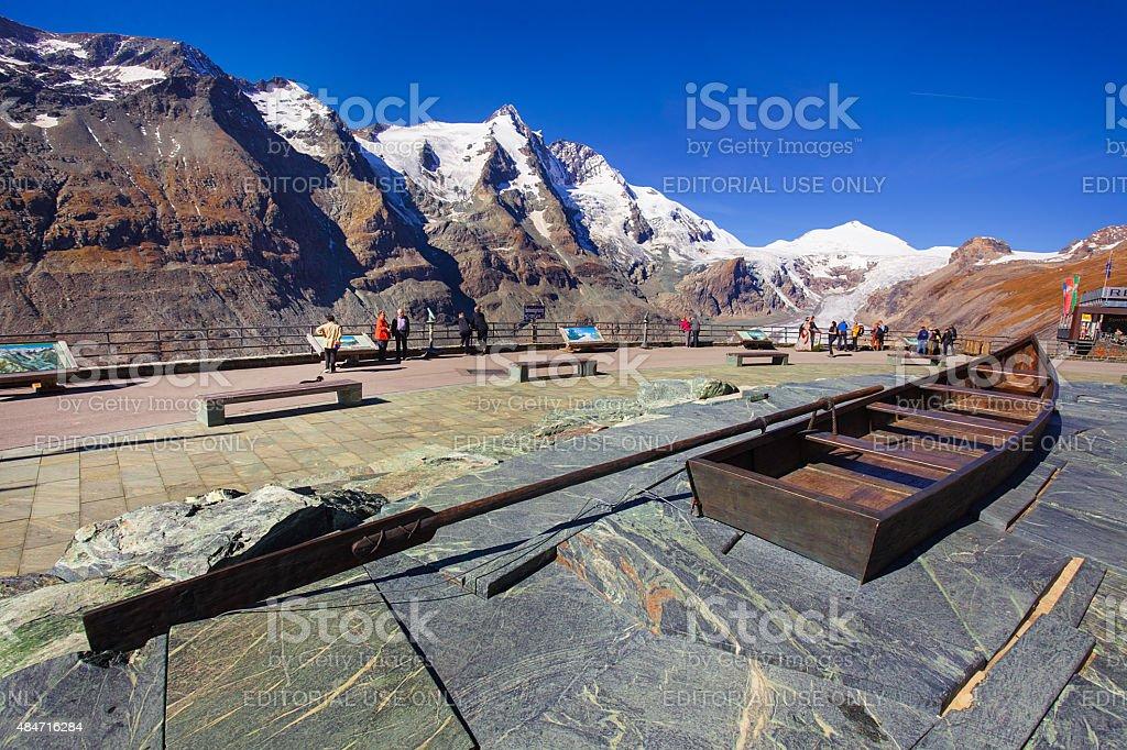 The Pasterze glacier stock photo