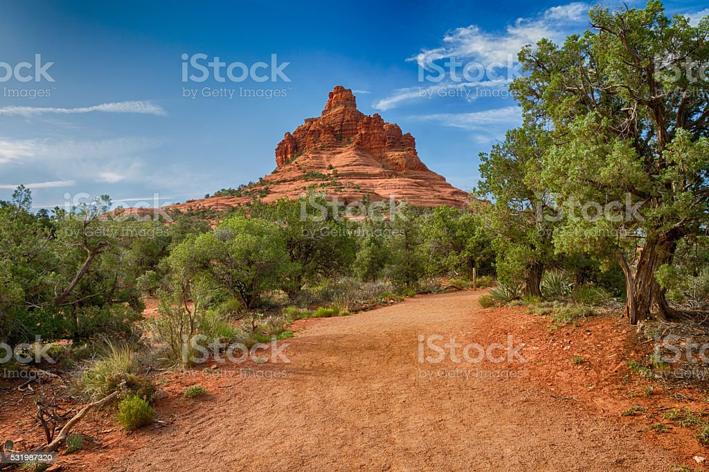 The path to Bell Rock stock photo