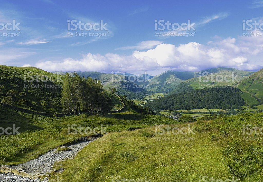 The path to Borrowdale stock photo