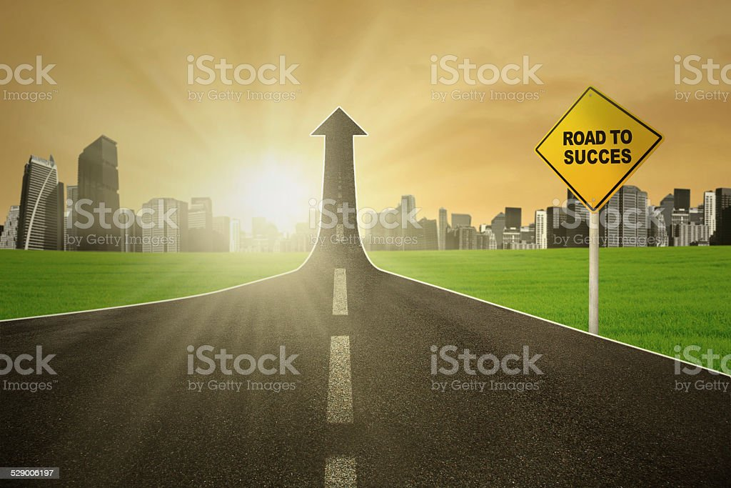 The path to success stock photo