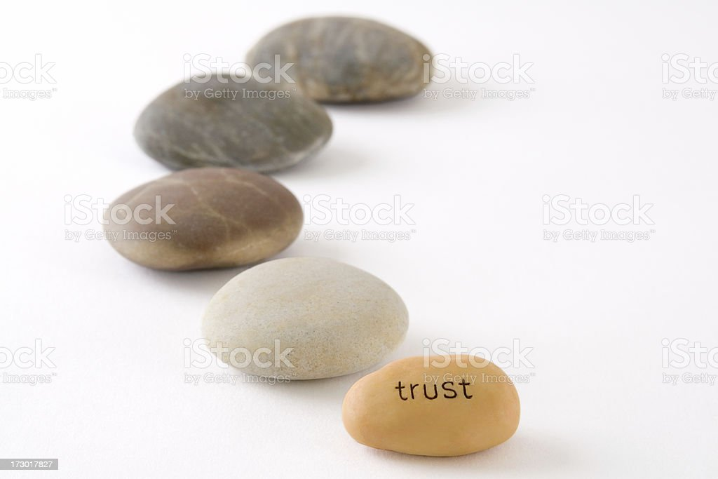 The path to trust royalty-free stock photo