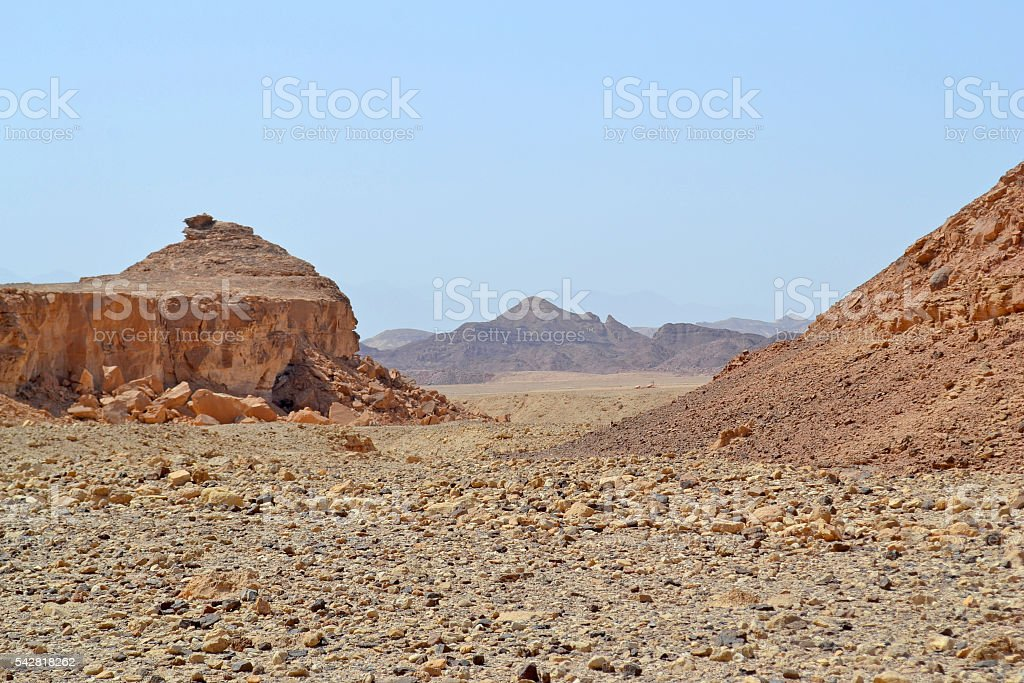 The Paths of the Desert stock photo