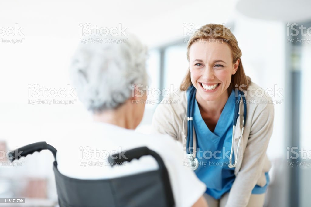 The patients I see are also my friends royalty-free stock photo