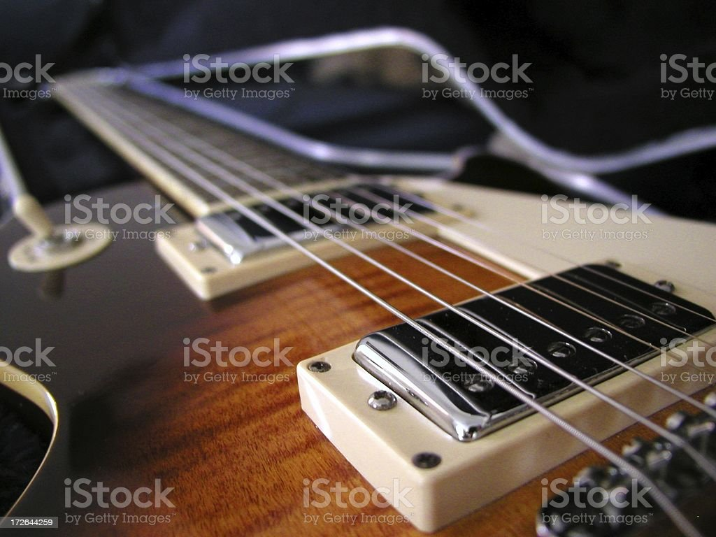 Les Paul Electric Guitar royalty-free stock photo