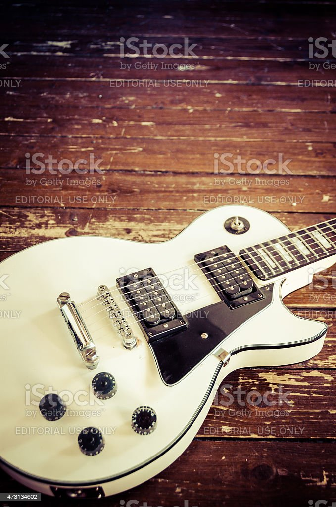 Les Paul Guitar stock photo