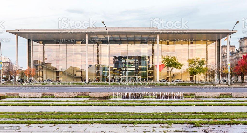 The Paul Loebe Haus parliamentary building stock photo