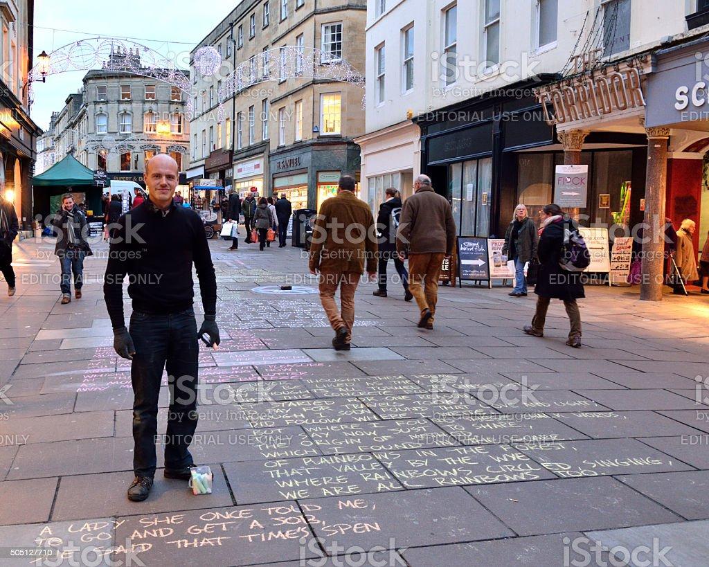 The Pavement Poet stock photo