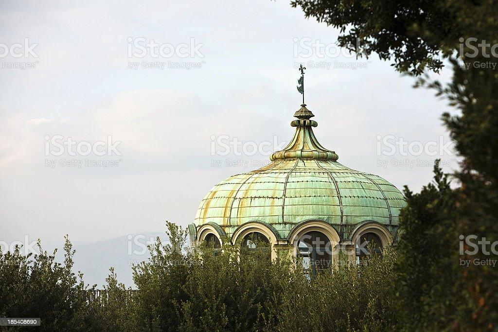 The pavilion at  Gardens of Boboli stock photo