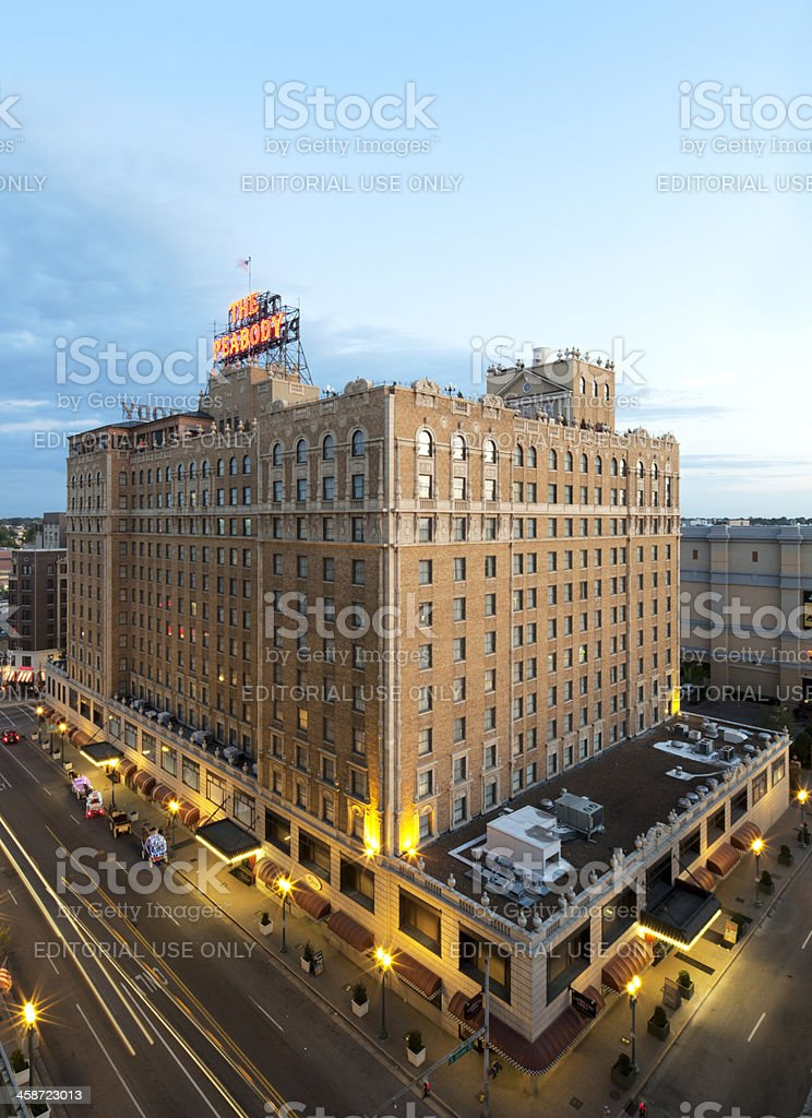 The Peabody Hotel in Memphis Tennessee royalty-free stock photo