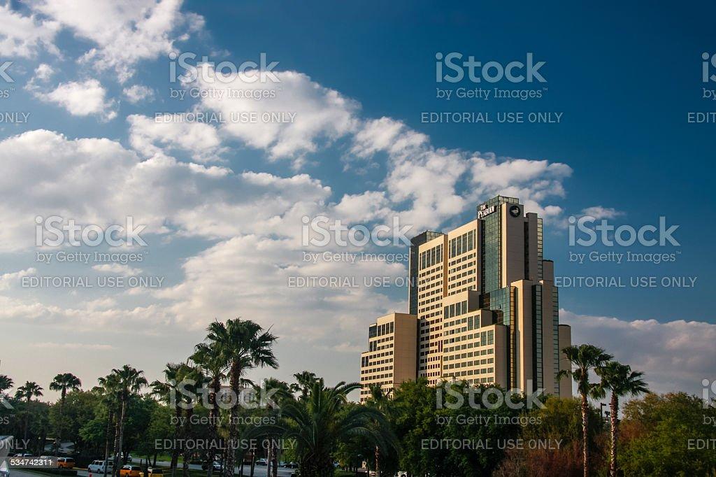 The Peabody Hotel on International Drive in Orlando stock photo
