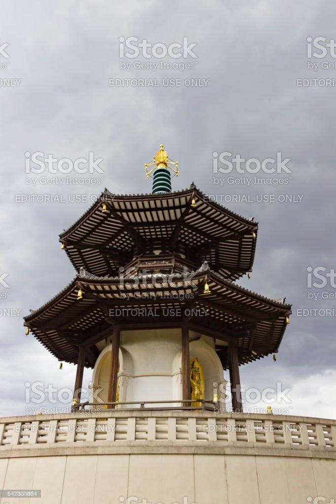 The Peace Pagoda of Battersea Park stock photo