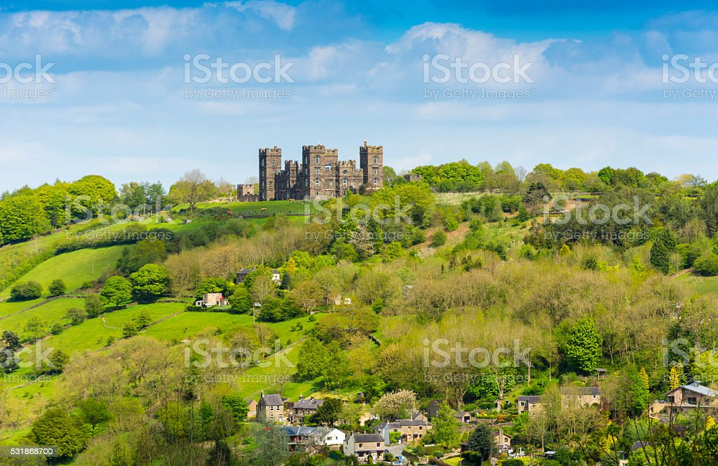 The Peak District - Stately Home Ruins stock photo