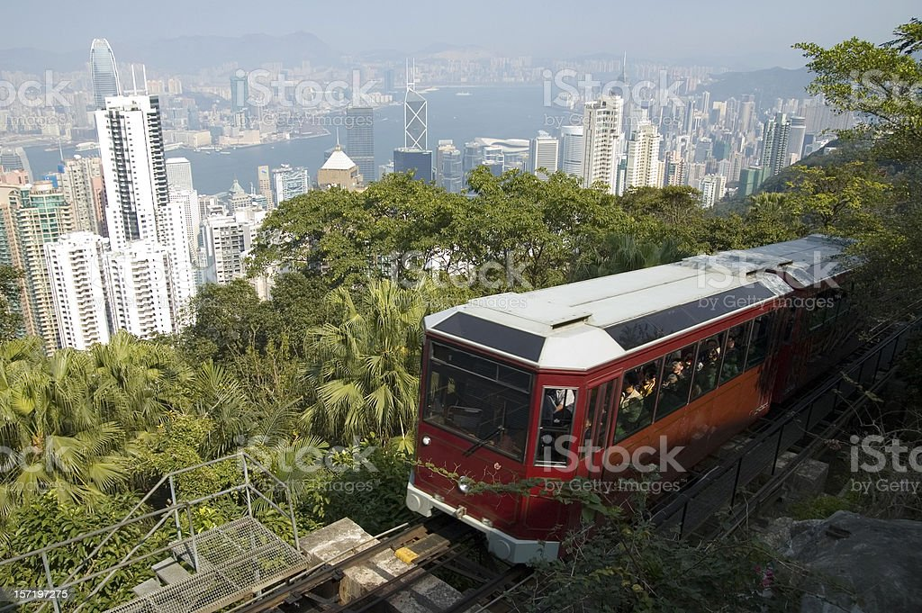 The Peak Tram stock photo