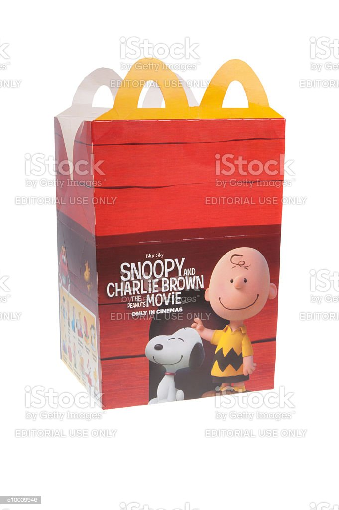 The Peanuts Movie McDonalds Happy Meal stock photo