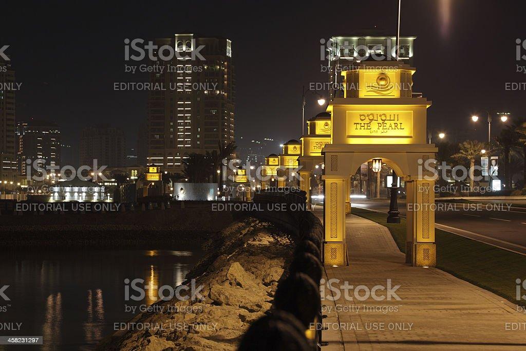 The Pearl in Doha, Qatar royalty-free stock photo