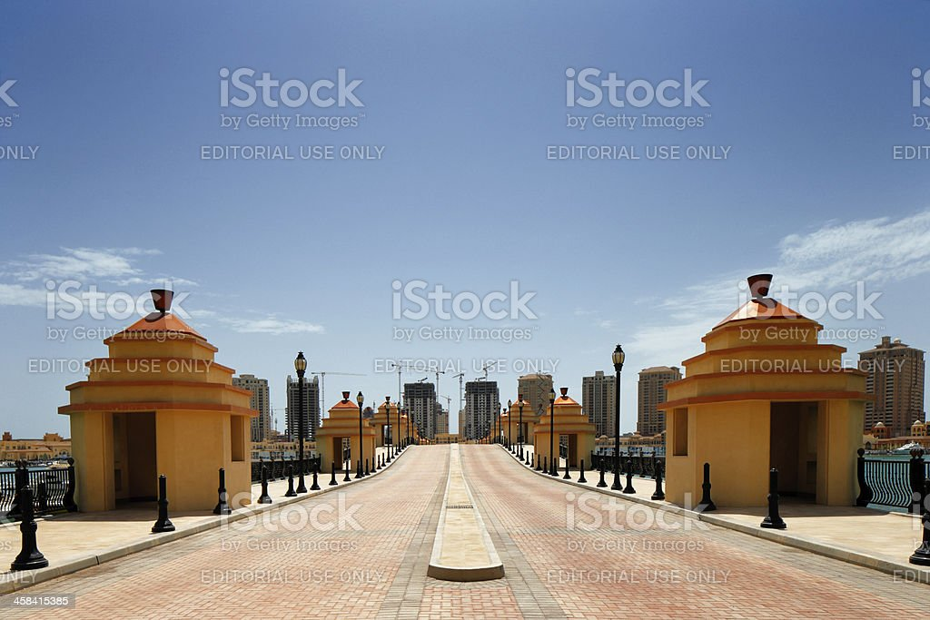 The Pearl-Qatar island in Doha, Qatar stock photo