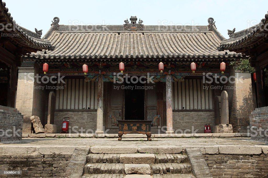 Das Bauern und Tempeldorf Zhangbi Cun in China stock photo