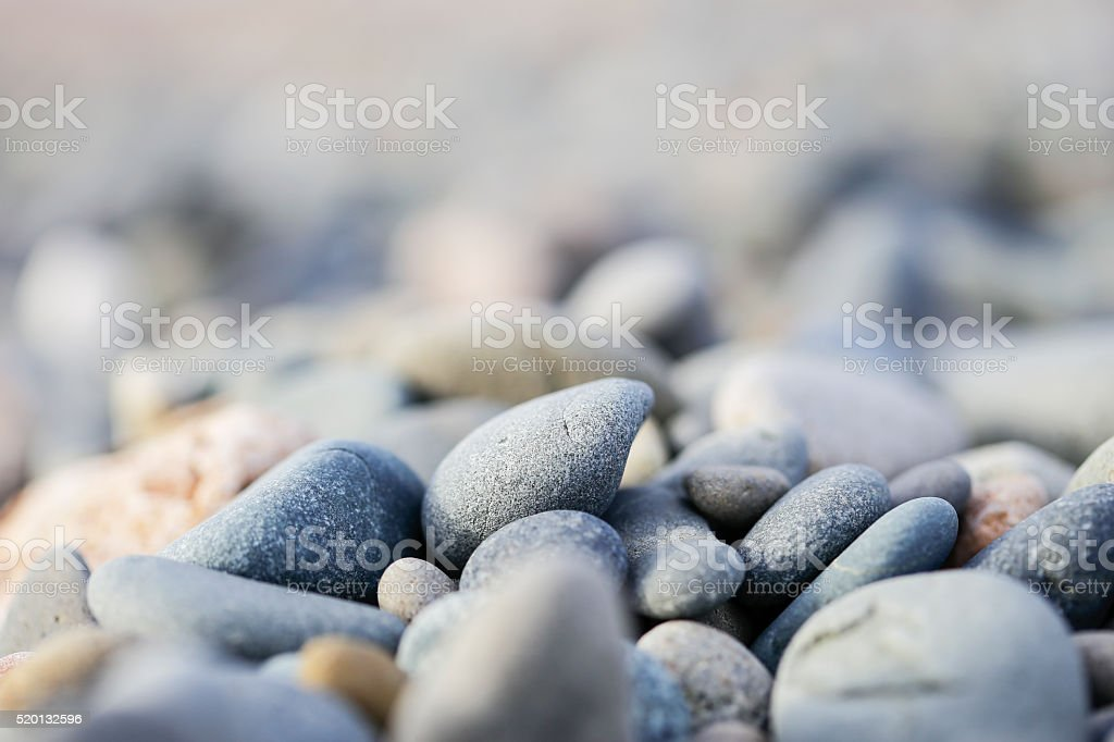 The pebbles on the Cyprus beach stock photo