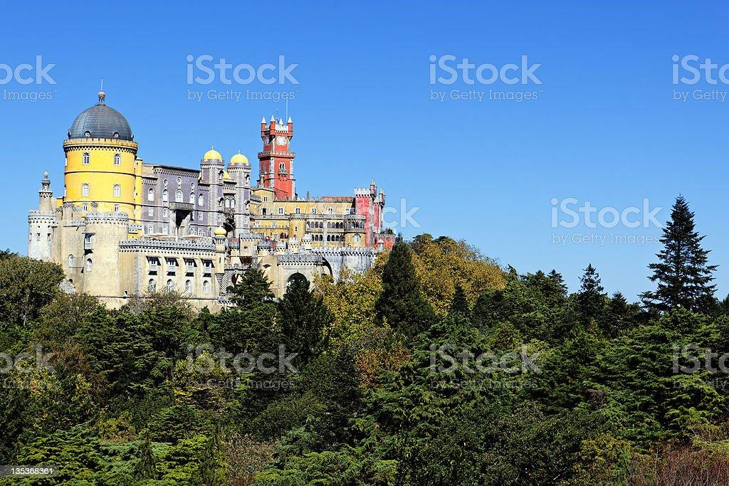 The Pena castle stock photo