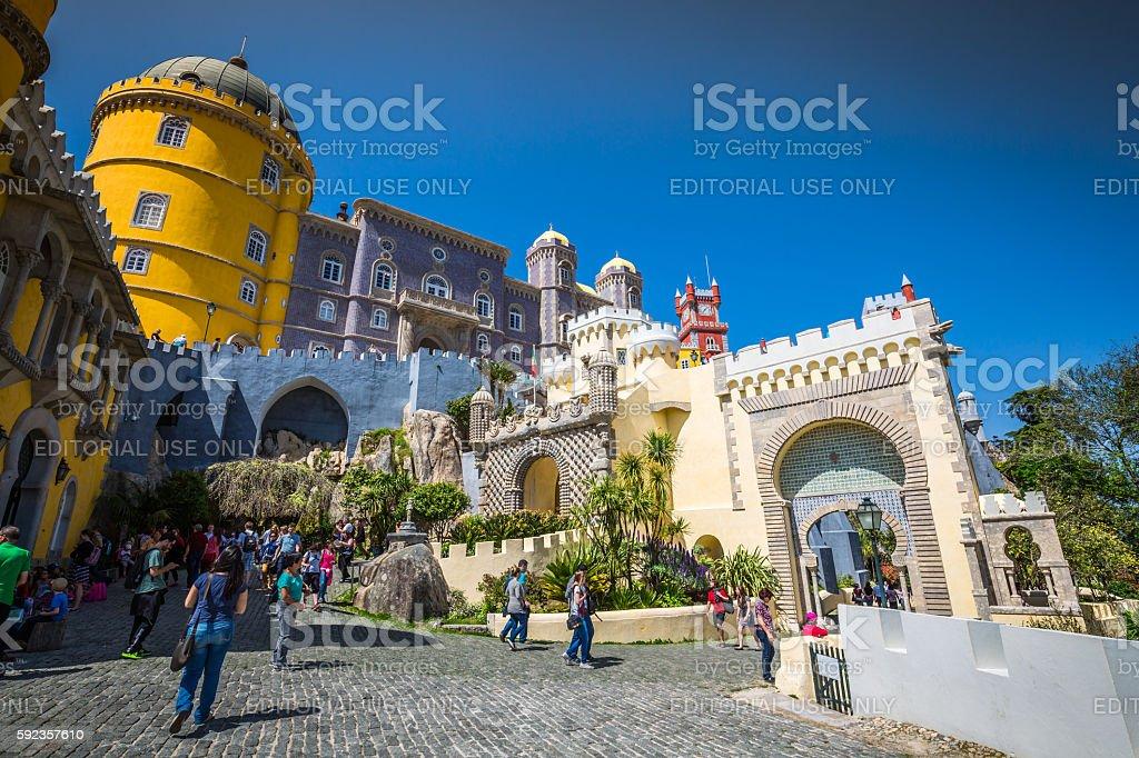 Sintra, Portugal - April 13, 2015: The Pena Castle stock photo