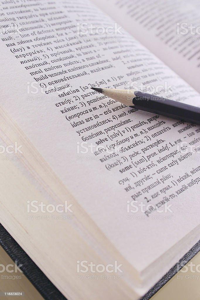Ołówek podając w słowo zbiór zdjęć royalty-free