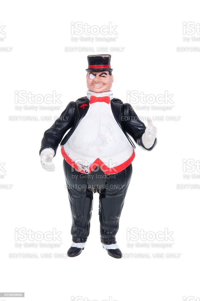 The Penguin Action Figure stock photo