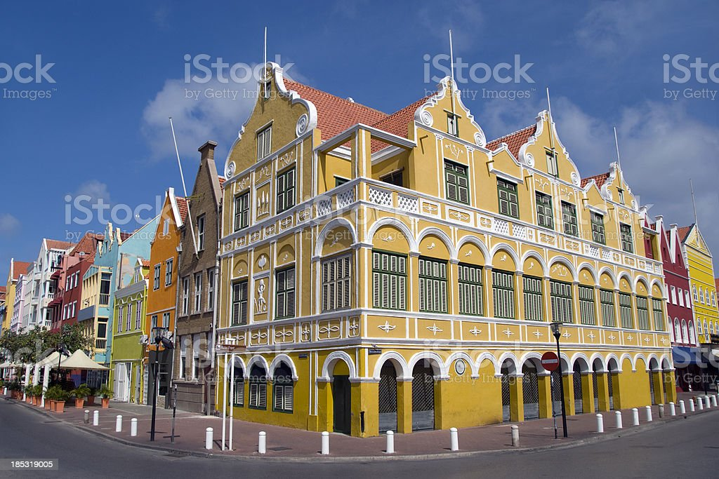 The Penha building in Willemstad Curacao stock photo