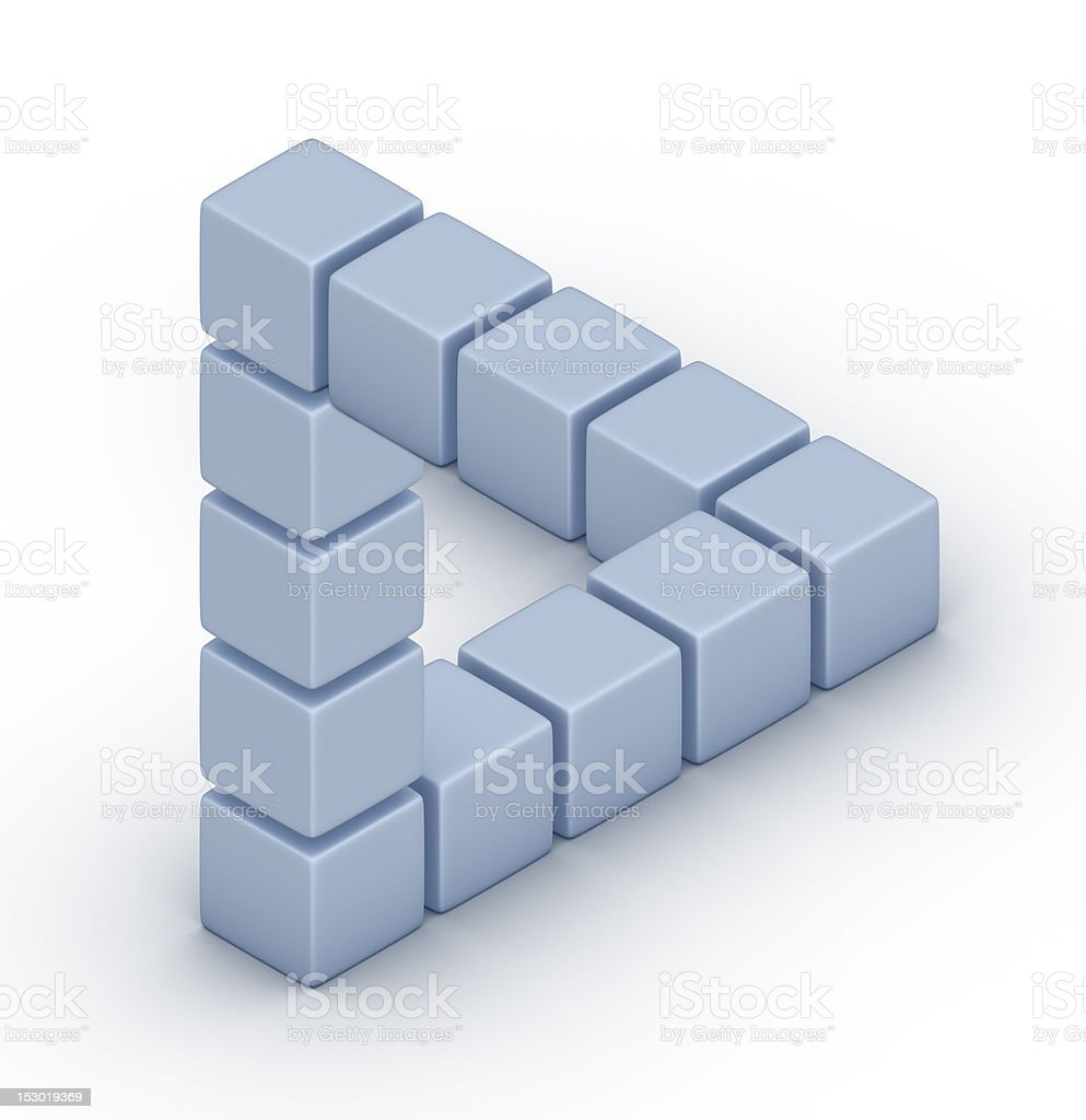 The Penrose triangle stock photo