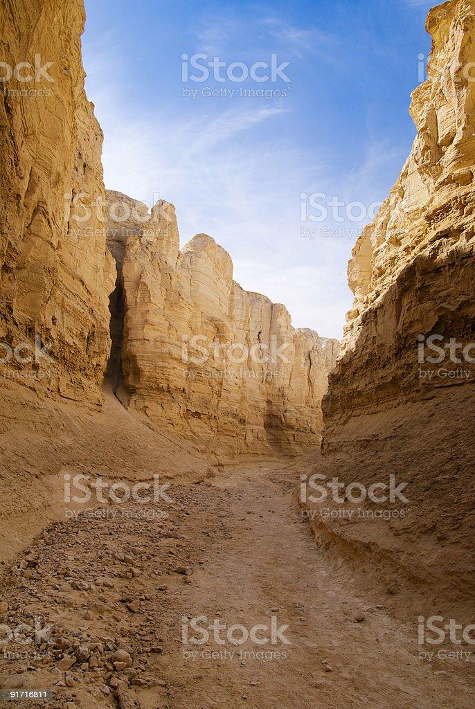 The Perazim canyon royalty-free stock photo