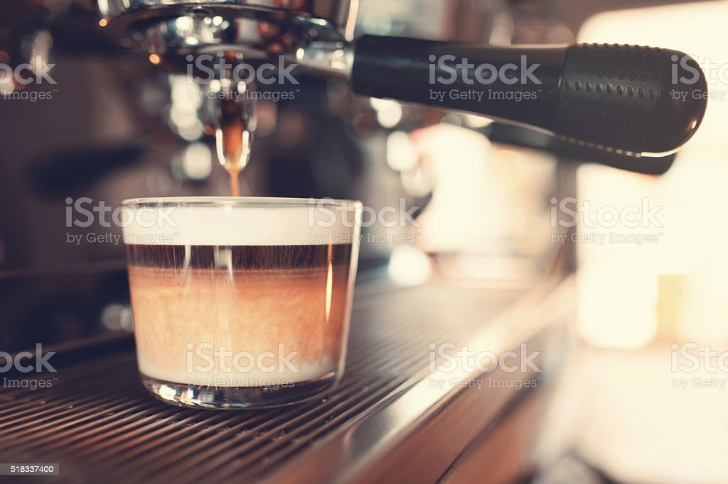 The Perfect Blend Of Coffee And Milk stock photo