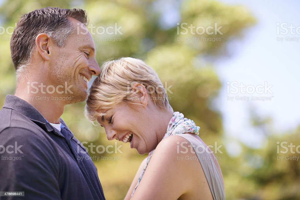 The perfect combination of love and laughter stock photo