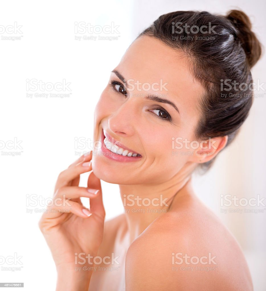 The perfect complexion stock photo