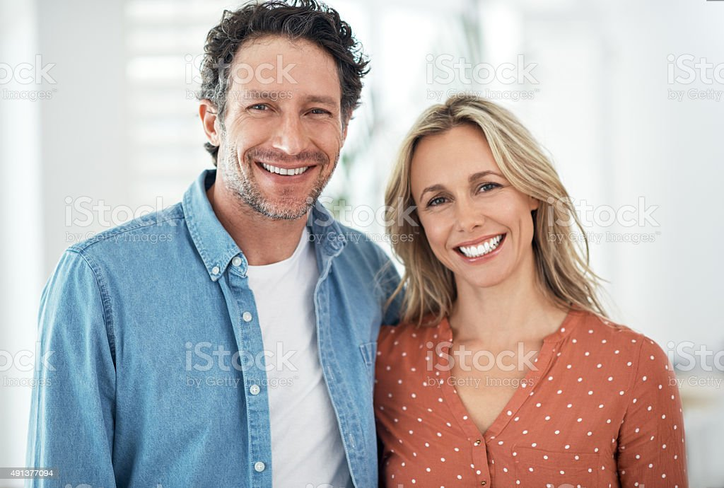 The perfect couple stock photo
