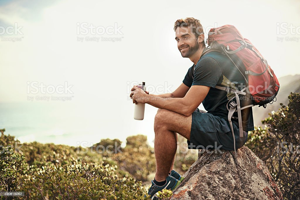 The perfect day to be out in nature... stock photo