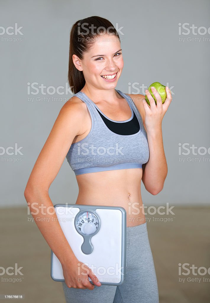 The perfect diet snack stock photo