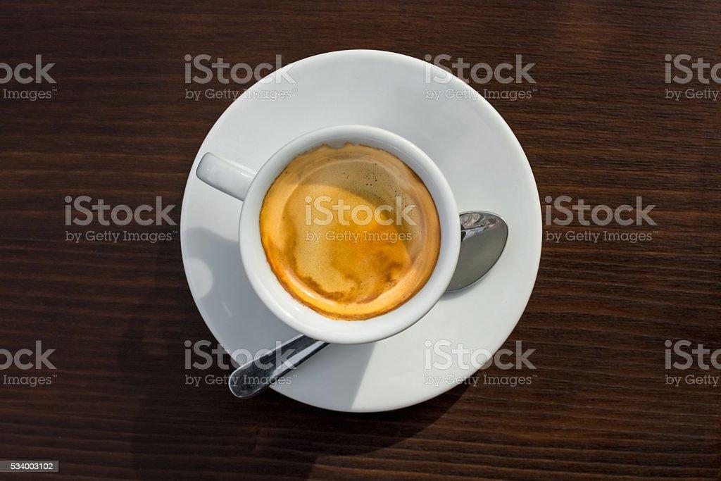 The Perfect Espresso Crema stock photo