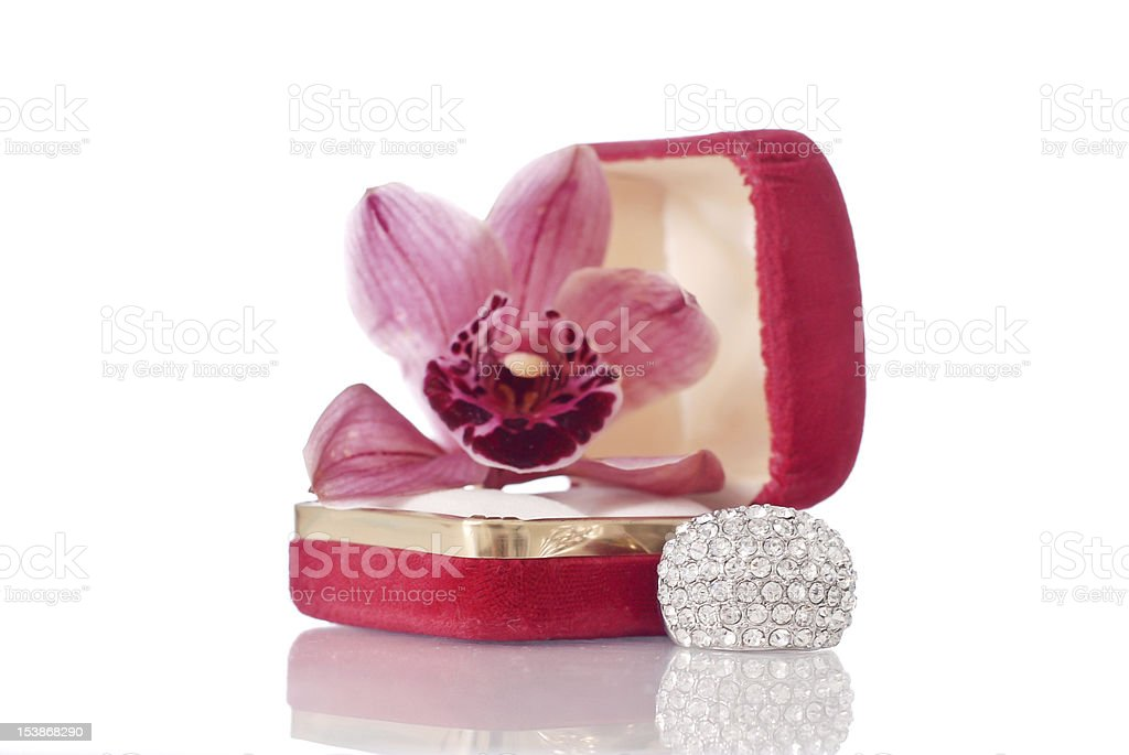 The Perfect Gift of Diamonds royalty-free stock photo