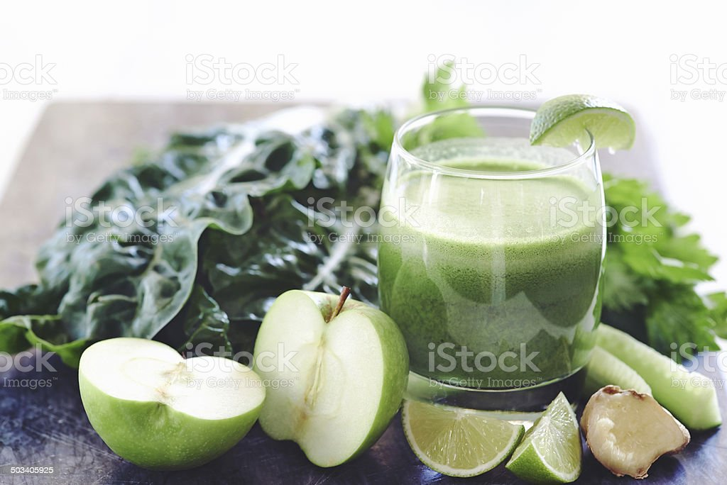 The perfect juice cleanse stock photo