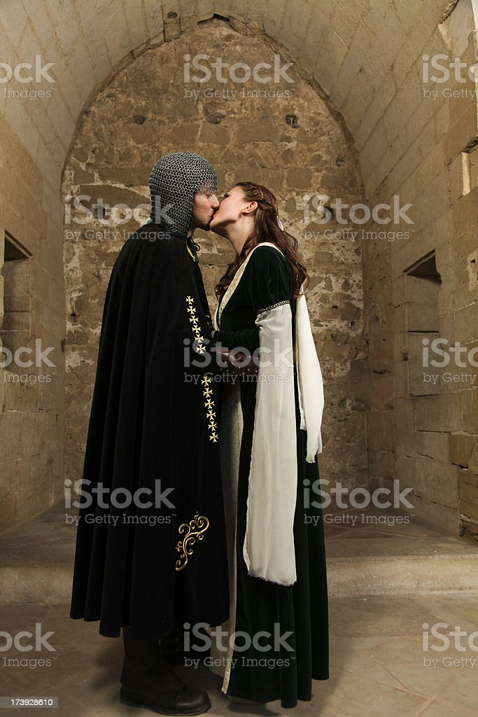 The perfect kiss royalty-free stock photo