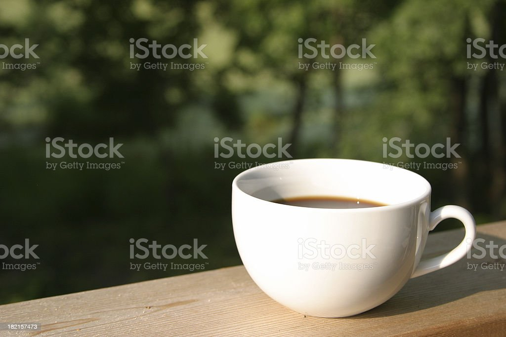 The Perfect Morning Cup of Coffee royalty-free stock photo