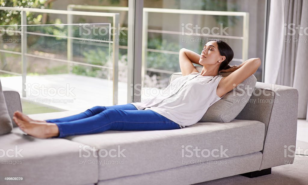 The perfect place for a power nap stock photo