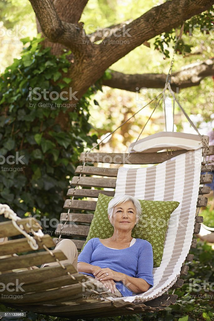 The perfect place for daydreaming stock photo