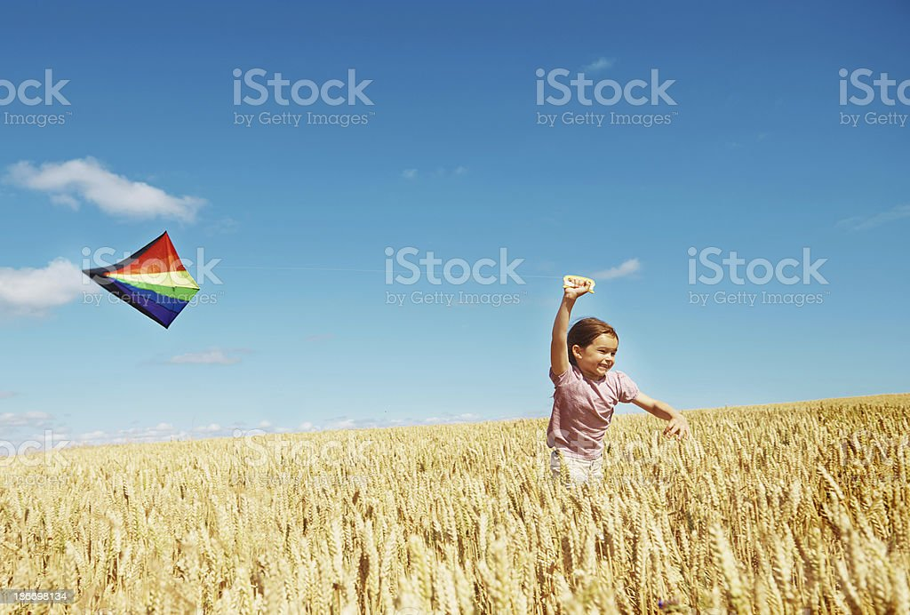 The perfect place to fly a kite! stock photo