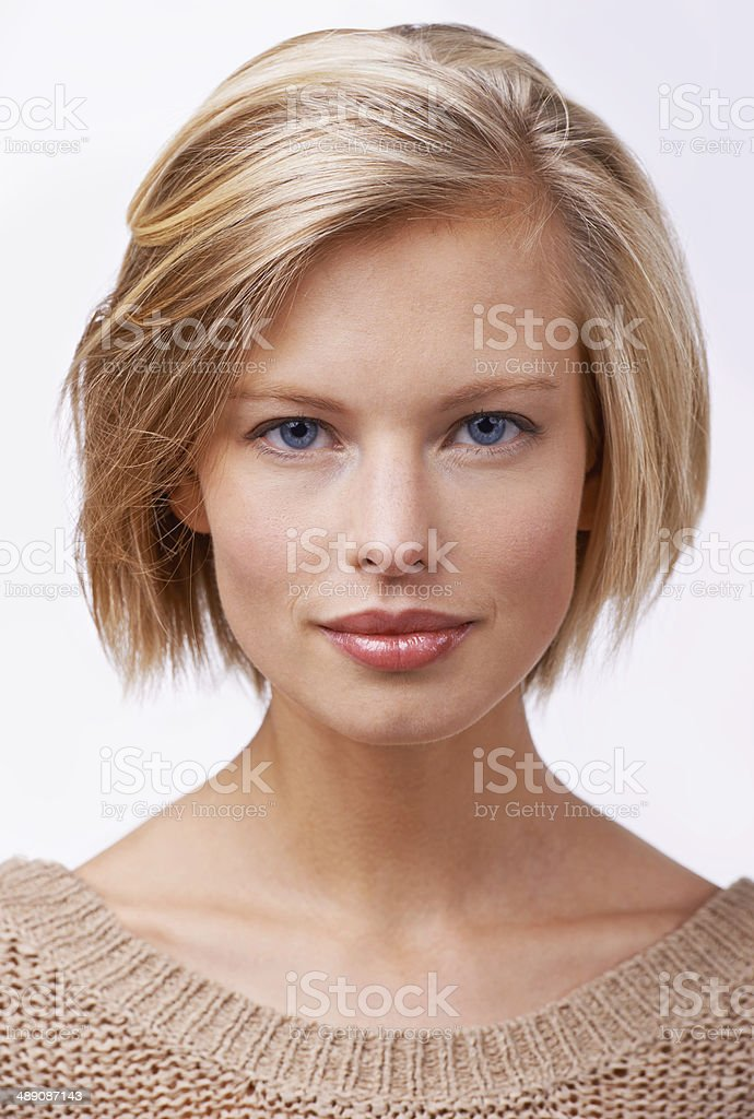 The perfect portrait of beauty stock photo