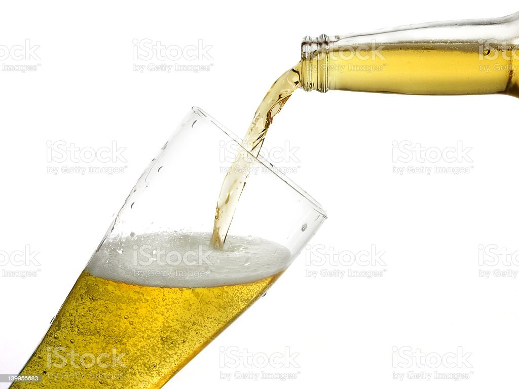 The perfect pour royalty-free stock photo